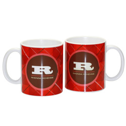 Wide initial red Ceramic Mug