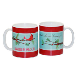 Cute Chirping Bird Ceramic Mug