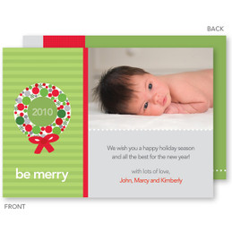 christmas cards personalized | Joyful Wreath Christmas Photo Cards by Spark & Spark