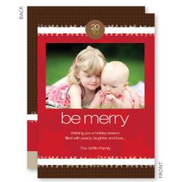 Merry Ribbon Christmas Photo Cards