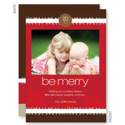 christmas cards online personalized | Merry Ribbon Christmas Photo Cards by Spark & Spark