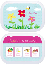 Personalized faceplates - Spring Flowers