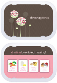 Personalized faceplates - Blossoms On Chocolate
