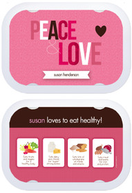 Personalized faceplates - Peace & Love