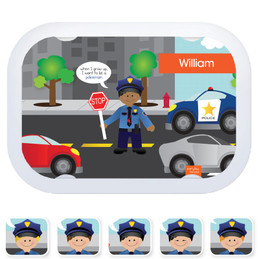 Everyday Heroes faceplates - Police on Duty (6 ethnicities)