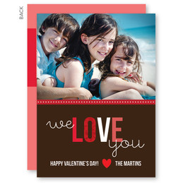 We Love You Valentine's Day Cards