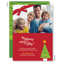 Xmas Modern Tree Christmas Photo Cards