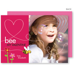 Bee My Valentine Valentine's Day Cards