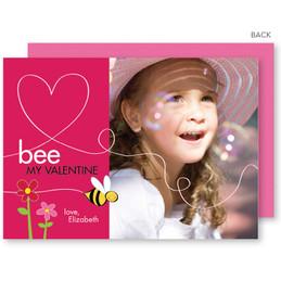 Bee My Valentine Valentine's Day Cards
