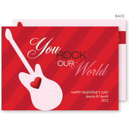 Rock Our World Valentine's Day Cards