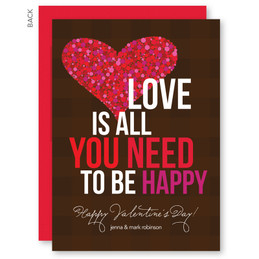Personalised Valentines Cards | All You Need Is Love