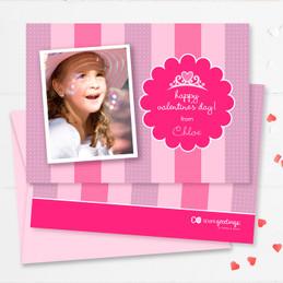 Colorful School Valentine Cards | Valentine's Princess