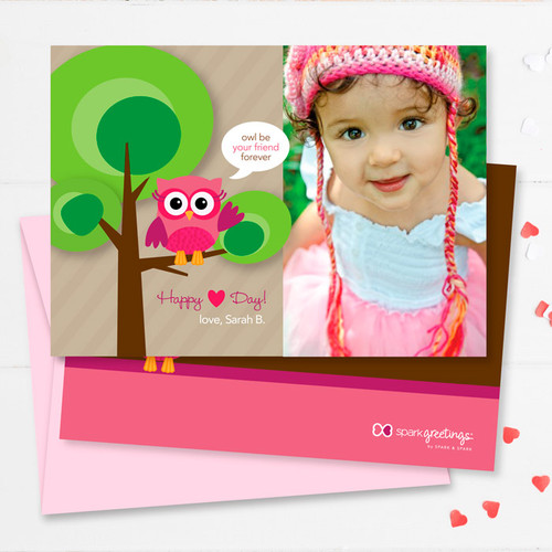 Colorful Valentine's Day Exchange Cards   Owl Be Your Girlfriend