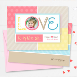 Colorful Childrens Valentines Cards | Love Is In The Air