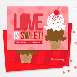 Love Is Sweet Kids Valentines Cards