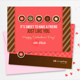 Sweet Treats Kids Valentines Cards