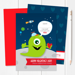 Toddler Valentines Cards | My Eye Is On You