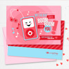 Pink Boom Boom For You Kids Valentines Cards