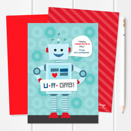 Robot Love Kids Valentines Cards