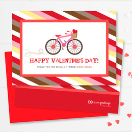 Colorful Valentine Exchange Cards | A Girl Love Ride
