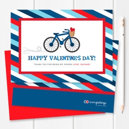 A Boy Love Ride Kids Valentines Cards