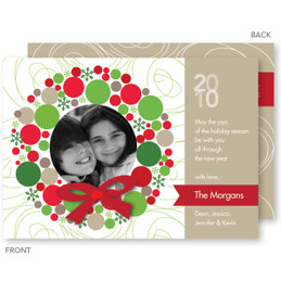 Bright Xmas Wreath Christmas Photo Cards