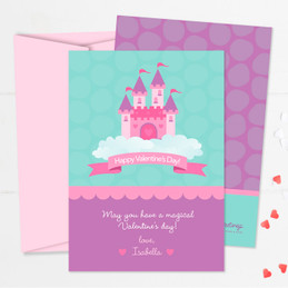 A Castle In The Sky Kids Valentines Cards
