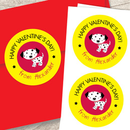 A Patchy Valentine's Day Custom Stickers