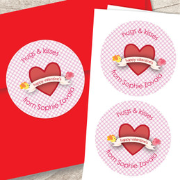 Cute And Lovely Valentine Labels