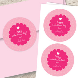 I Am Thinking Of Love Valentines Labels