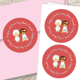 A Fabulous Valentine's Day Address Labels