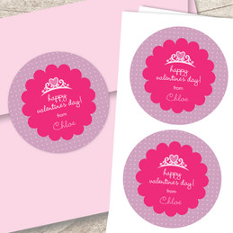 Valentine's Princess Custom Stickers