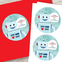 Robot Love Address Labels