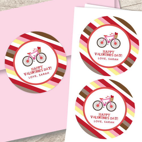 A Girl Love Ride Valentines Labels