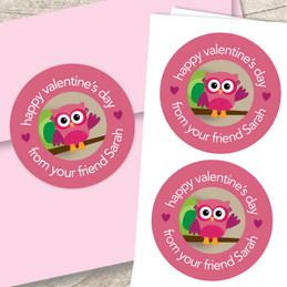 Owl Be Your Girlfriend Valentine Labels