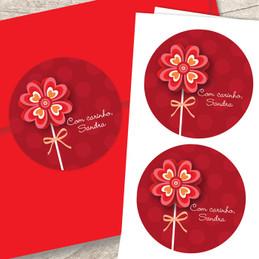 Sweet Valentine Flower Address Labels