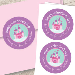A Castle In The Sky Valentine Address Labels