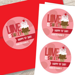 Love Is Sweet Valentine Labels