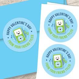 Blue Boom Boom For You Valentine Address Labels