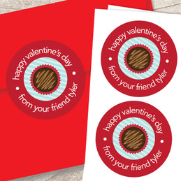 Valentine's Sweets Custom Stickers
