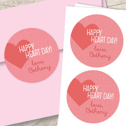 Full Of Hearts Valentines Labels