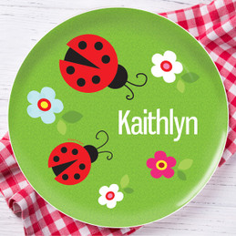 Curious Lady Bug Kids Plates