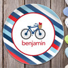 A Lovely Boy Ride Personalized Kids Plates