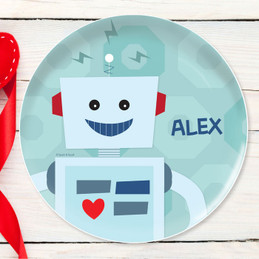 My Own Robot Personalized Melamine Plates