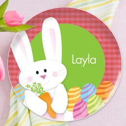 My easter bunny Pink kids plates