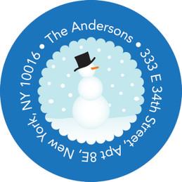 Mr. Snowman Christmas Address Labels
