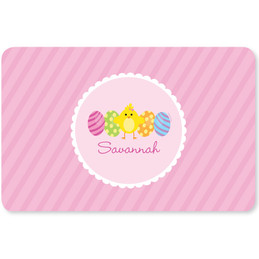 Easter Chick Pink Kids Placemat