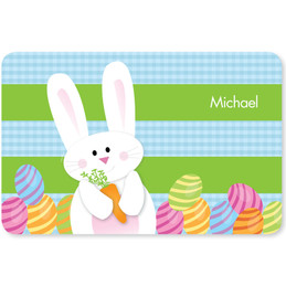 My Easter Bunny Blue Kids Placemat