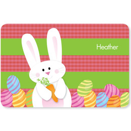 My Easter Bunny Pink Kids Placemat