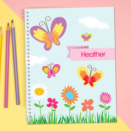 A Butterfly Field Kids Notebook